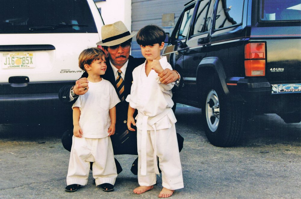 Master Hoshi Ikeda with my sons